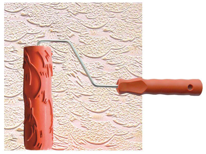 Как сделать декор стен своими руками с валиком